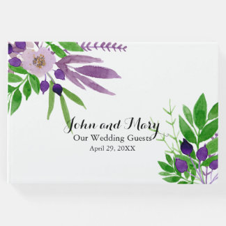 Cottage Garden Floral Wedding Guest Book