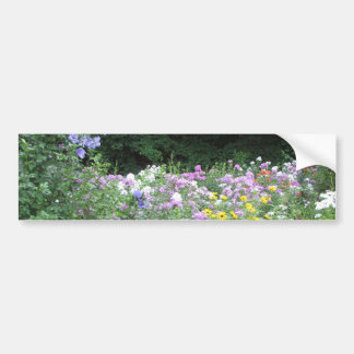 Cottage Garden - Flowers and Woods Bumper Sticker