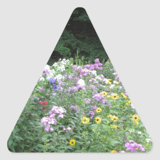 Cottage Garden - Flowers and Woods Triangle Sticker