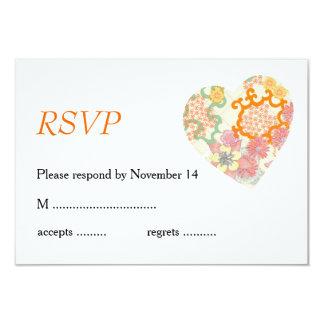Cottage Garden Wedding Flowers Card