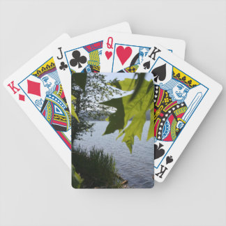 Cottage Grove Lake in Summer Bicycle Playing Cards