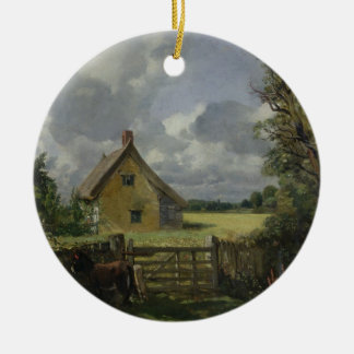 Cottage in a Cornfield, 1833 Ceramic Ornament