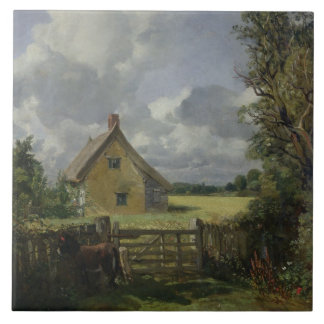 Cottage in a Cornfield, 1833 Ceramic Tile