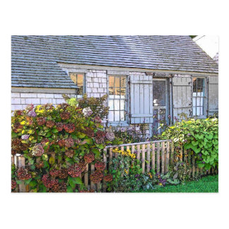 Cottage in Sconset - VINTAGE LOOK Postcard