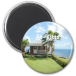 Cottage in St Kitts 2 Inch Round Magnet