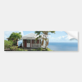Cottage in St Kitts Bumper Sticker