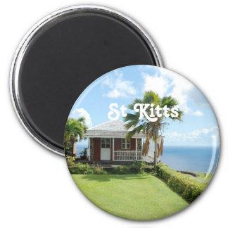 Cottage in St Kitts Fridge Magnet