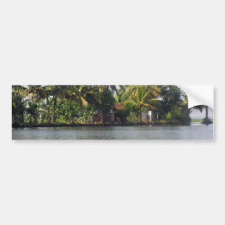 Cottage in the midst of greenery car bumper sticker
