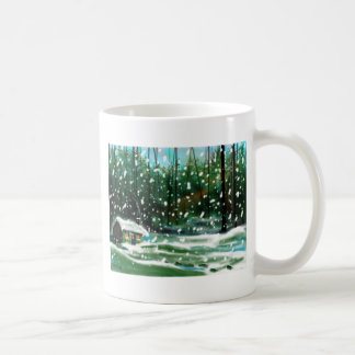 Cottage in the Snow Coffee Mug