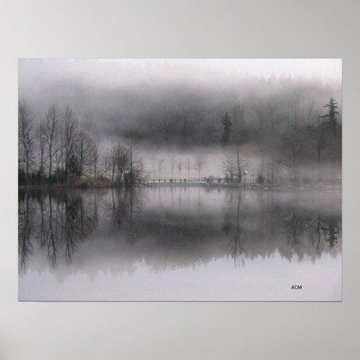 Cottage Lake canvas print