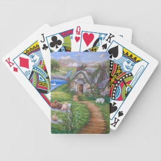 Cottage Lane Bicycle Playing Cards