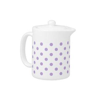 Cottage Lavender Polka Dot Teapot