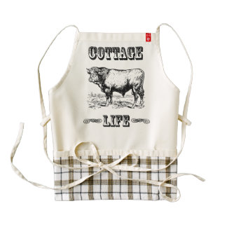 Cottage Life Vintage Countryside Dictionary Art Zazzle HEART Apron
