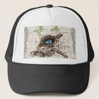 Cottage modern vintage french country birdnest trucker hat