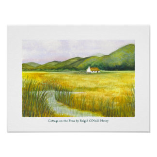 Cottage on the Fens by Brigid O'Neill Hovey # 3 Poster