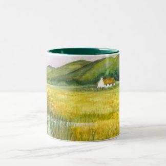 Cottage On the Fens Two-Tone Coffee Mug