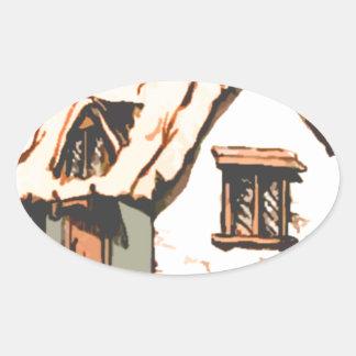 cottage oval sticker
