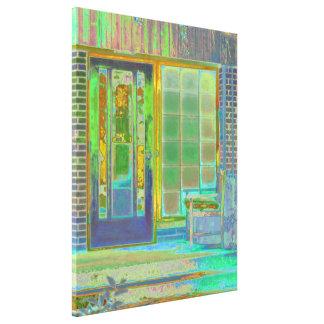 Cottage Porch Canvas Print