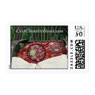 Cottage Porch Tuffets~ CestChouetteHome.com Postage