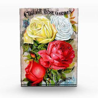 Cottage Rose Garden Acrylic Award