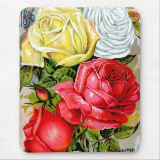Cottage Rose Garden Mouse Pad