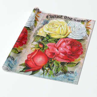 Cottage Rose Garden Wrapping Paper