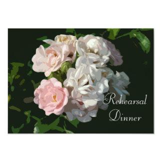"Cottage Rose Rehearsal Dinner Custom Invitations 4.5"" X 6.25"" Invitation Card"