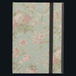 "Cottage Rose Vintage Floral iPad Air Cover<br><div class=""desc"">This case features an elegant vintage cottage rose pattern.</div>"