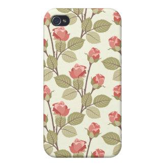 Cottage Rosebuds iPhone 4/4S Cases