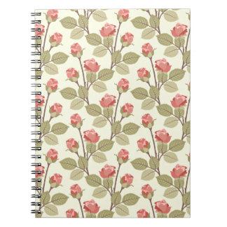 Cottage Rosebuds Notebook