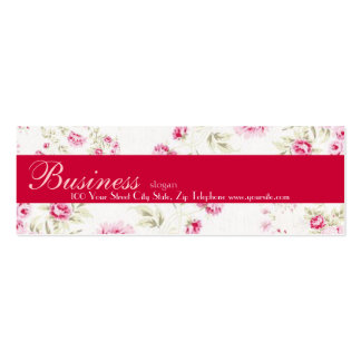 Cottage Roses Skinny Business Card Gift Tag