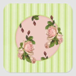 Cottage Roses Sticker