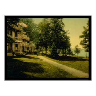 Cottage Row in Chautauqua, NY 1898 Poster