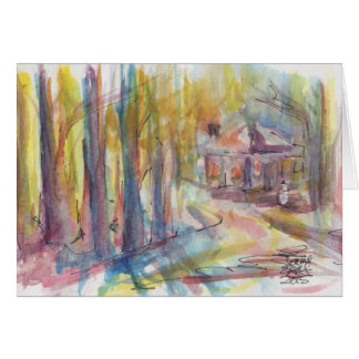 Cottage Snow Scene Holiday Card