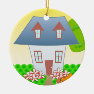 Cottage – Summer Ceramic Ornament
