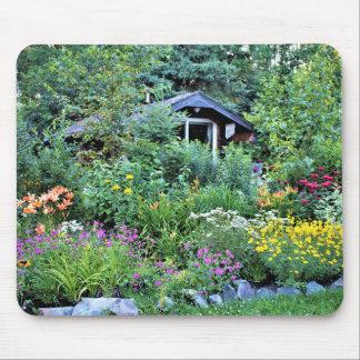Cottage Summer Garden at Dusk Mouse Pad