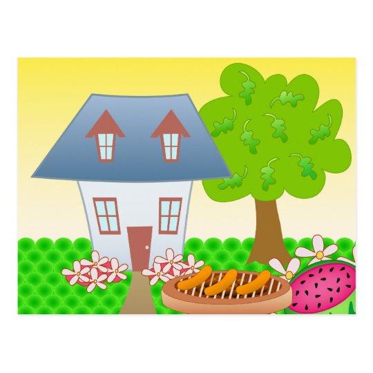 Cottage – Summer Postcard