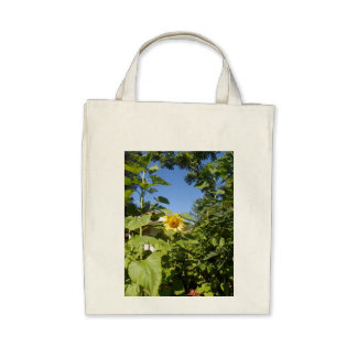 COTTAGE SUNFLOWER Tote Canvas Bags