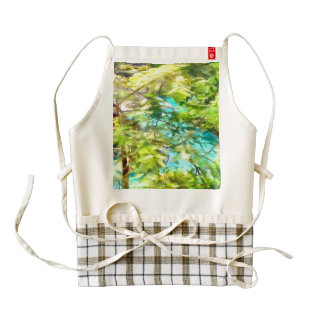 Cottage surrounded by water zazzle HEART apron