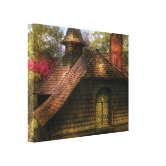 Cottage - Sweet old lady house Canvas Print