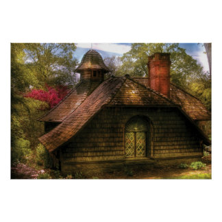 Cottage - Sweet old lady house Print