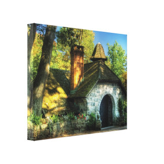 Cottage - The little cottage Stretched Canvas Print