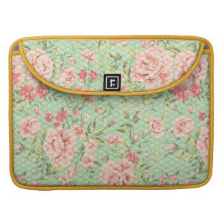 Cottage Trellis Floral Pattern Sleeves For MacBook Pro