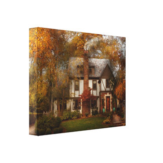 Cottage - Westfield, NJ - A home like any other Stretched Canvas Prints