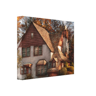 Cottage - Westfield, NJ - Family Cottage Gallery Wrapped Canvas