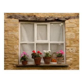"""Cottage Window"" Postcard"