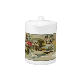 Cottage with Roses Teapot