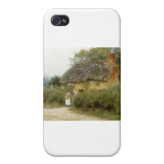 Cottage With Sunflowers Case For iPhone 4