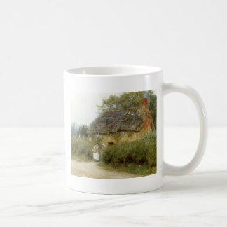 Cottage With Sunflowers Coffee Mug