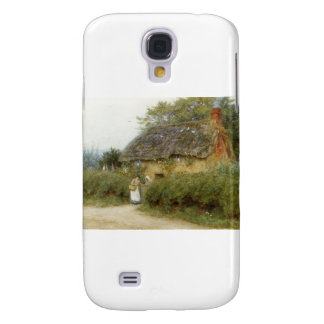 Cottage With Sunflowers Samsung Galaxy S4 Covers